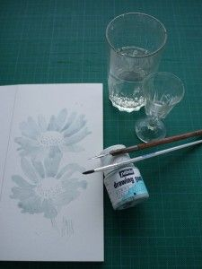 aquarelle art astuces drawing gum matériel
