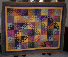 This is a quilt I made for my parents many, many years ago...