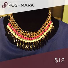 Hot pink/ black necklace Beautiful Jewelry Necklaces