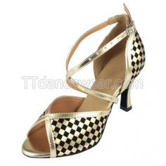 Free Shipping Wholesale Gold Ballroom Salsa Dance Shoes Online
