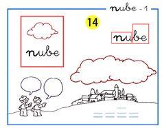 Completo método de lectoescritura paso a paso letra n de nube.