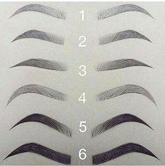 Permanent makeup eyebrow styles