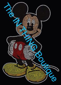 * BLING SHIRTS * Mickey Mouse www.facebook.com/TheINTHINGBoutique