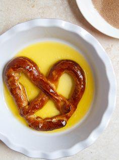A small batch of homemade soft pretzels