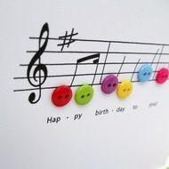 Verjaardags muziek kaart
