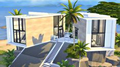MODERN CLIFF HOUSE | Sims 4 Speed Build