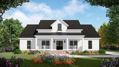 House Plan 60108 - Country, Farmhouse, Ranch Style House Plan with 1817 Sq Ft, 3 Bed, 2 Bath, 2 Car Garage Style At Home, Country Style House Plans, Country Style Homes, Southern Style, Farmhouse Floor Plans, Country Farmhouse, Modern Country, Simple Farmhouse Plans, Farmhouse Addition