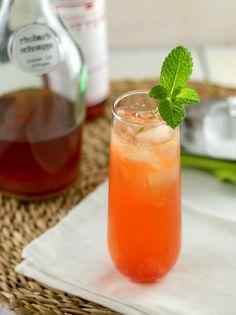 rhubarb ginger fizz!