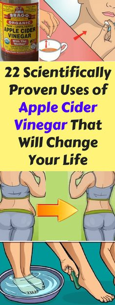 22 Scientifically Proven Uses of Apple Cider Vinegar That Will Change Your Life | Healthy Natural Living |  http://healthynaturalliving.co