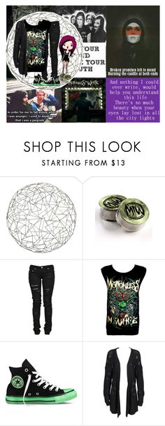 """""""Motionless In White <3"""" by anamaefire ❤ liked on Polyvore featuring Arteriors, Denim of Virtue, Converse and OneTeaspoon"""