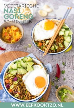 Nasi goreng | Eef Kookt Zo Nasi Goreng, Dutch Recipes, Cooking Recipes, Healthy Recipes, Food Vans, Asian Kitchen, Indonesian Food, Yams, Food Court