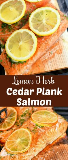 Juicy, buttery cedar plank salmon is a very simple dinner but has a lot of delicious flavor. This salmon recipe features simple ingredients like herbs, butter, and lemon that compliment the natural salmon flavor perfectly.#salmon #seafood #dinner #grilled #cedarplank