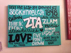 zeta tau alpha canvas art