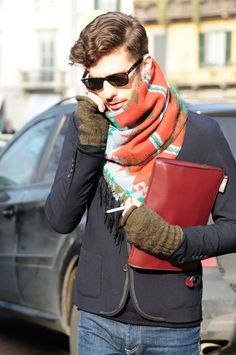 Scarf that goes with the jacket.