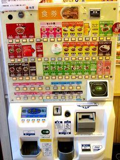 Vending machine for ordering food in restaurant... so cool