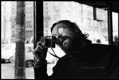 Josef Koudelka with his Leica Rangefinder