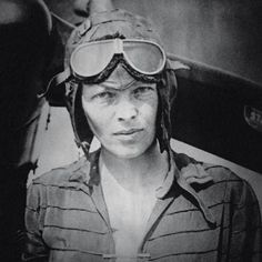Affiches Amelia Earhart Aviatrice Pilote de Histoire America Image Impression