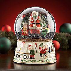 lenox christmas snow globes | Musical Snow Globes