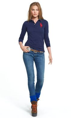 a9c0bd94e219c Skinny-Fit Big Pony Polo - Polo Ralph Lauren Big Pony - Ralph Lauren France