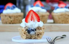 49. Happy Fourth Of July Cupcakes recipe by Chocolate-Covered Katie (150+ Delicious 4th of July Dessert Recipes)