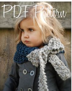 Cowl scarf with bow - @Amanda Vest, do you think you could crochet something like this? I think it is just adorable.