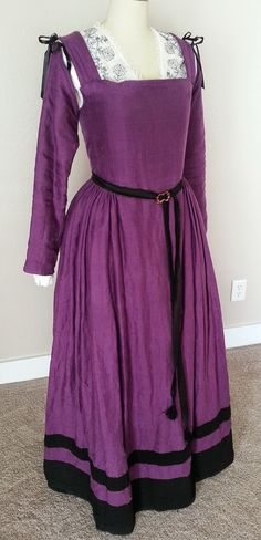 See Jane Sew - Purple Linen English Kirtle