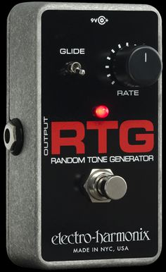 RTG    Random Tone Generator  A faithful reissue of a rare EHX synthesizer first introduced in 1980. The palm-sized synth produces wild, randomly changing tones over a four-plus octave range. Creates sensational soundscapes, especially when used with other effects!