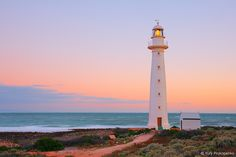 Point Lowly Lighthouse, Whyalla, South Australia by Yury Prokopenko Beacon Of Light, Light In The Dark, Lighthouse Pictures, Light Of The World, Am Meer, Belleza Natural, South Australia, Places To See, Cool Photos