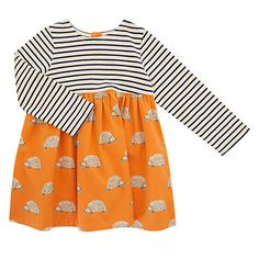 Buy John Lewis Baby Striped Hedgehog Skater Dress, Multi, months from our Baby & Toddler Dresses & Skirts range at John Lewis & Partners. Baby Skirt, Baby Dress, John Lewis Baby, Cotton Tights, Tartan Dress, Toddler Dress, Stripes Design, Baby Sewing, Printed Skirts