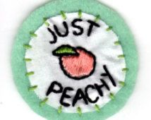Just Peachy Embroidered Patch