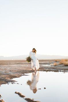 Dry Lake Bed Las Vegas Elopement   #lasvegaswedding #bohobride #barefoot #desert #lace