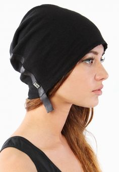 Logan Neitzel Black Beanie with Leather [CHRISTMAS IS COMING...]