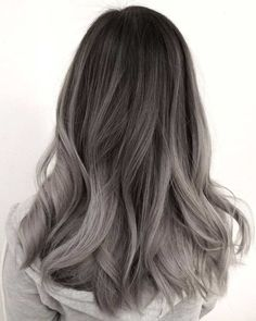 51 Gorgeous Hair Color Worth To Try This Season balayage hair color, light brown hair color ideas, h Ash Grey Hair, Brown Blonde Hair, Light Brown Hair, Dark Brown, Silver Blonde, Cool Blonde, Silver Ombre Hair, Black Hair, Blonde Honey