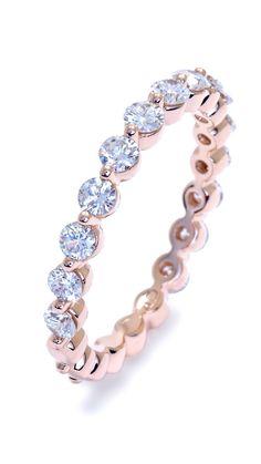 Petite Rose Gold Bubble Ring by Ascot Diamonds #ascotdiamonds