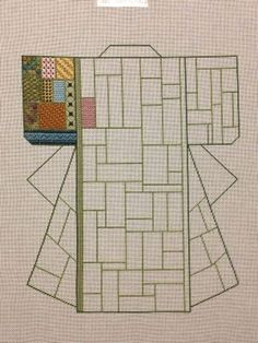 Patchwork Needlepoint Komono by Maggie Lane. I did this piece in Cross Stitch on 12 Aida cloth for my BBF's living room motif. Took me 6 months to complete due to all the extra designs added to finish off the piece. She still owes me a photograph of it hanging on the wall. Hint Hint, Robin.