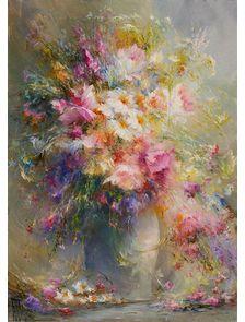 Картина с полевыми цветами «Сладкий сон»