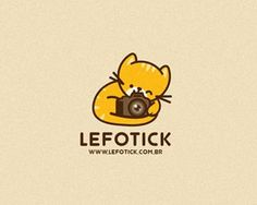 Logo, cat photographer. The thing I like about this logo is that even though part of it is not related to the product being sold it adds a layer of memorable cute to the logo. People will remember the cute.