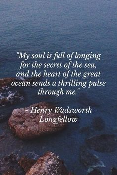 The Secret of the Sea by Henry Wadsworth Longfellow - The Seaside & the Fireside 1850