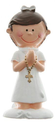 196d35f73bfed0 Figurka komunijna dziewczynki będzie wyjątkowo piękną ozdobą komunijnego  tortu. #tortkomunijny #figurkanatort