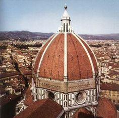 This is the Dome of the Santa Maria del Fiore Cathedral in Florence Italy. This shows the intellect side of the Renaissance being one of the first domes made after the Romans. It amazes me that they could build things like this without any of the machinery we have today.