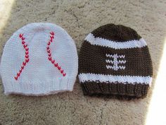Ravelry: Project Gallery for Baby Football Hat pattern by Jessica Marini....free pattern