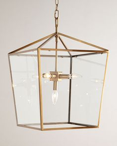 J- This is the light I have been searching for!  Camden Lantern-Soft Brass by Regina-Andrew Design at Horchow.