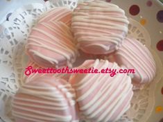 Items similar to Pretty in Pink Chocolate Covered Oreos Cookies It's A Girl Baby Shower Wedding Party Favors Christening Baby Shower Cookies Gender Reveal on Etsy