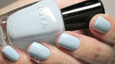 Icy blue nails: Zoya Blu: Review and Photographs. Zoya Blu is a beautiful pastel blue, perfect for Spring.