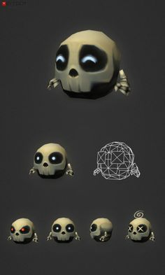 Micro Skeleton Tom This is Tom, a low poly micro skeleton! He is fully rigged and comes with an idle animation (frame 01-60). Not much is known about Tom Bone, only that he recently emerged from the Bone family tomb on the Funny and Rattle Bone estate…