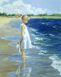 Sally Swatland Oil on canvas painting is available for sale; this Sally Swatland Oil on canvas art Painting is at a discount of off. Oil On Canvas, Canvas Art, Painted Canvas, Hand Painted, Illustration Art, Illustrations, Beach Scenes, Beach Art, Painting Inspiration