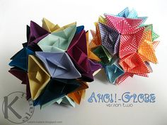 Ahoi! globe; an Origami globe with little paperships all connected without glue - by Kalami