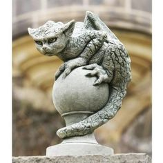 Amazon.com: Campania International Oscar The Gargoyle Cast Stone Garden Statue: Patio, Lawn & Garden