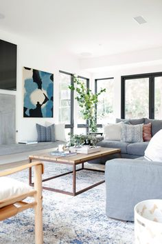 Bright, coastal living room | Studio McGee Rangeview Reno Pt. 2 #TraditionalDecor