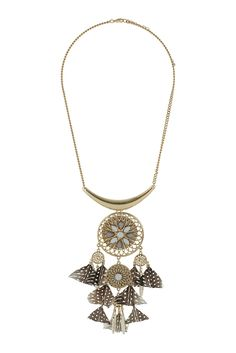 Dreamcatcher necklace #topshop